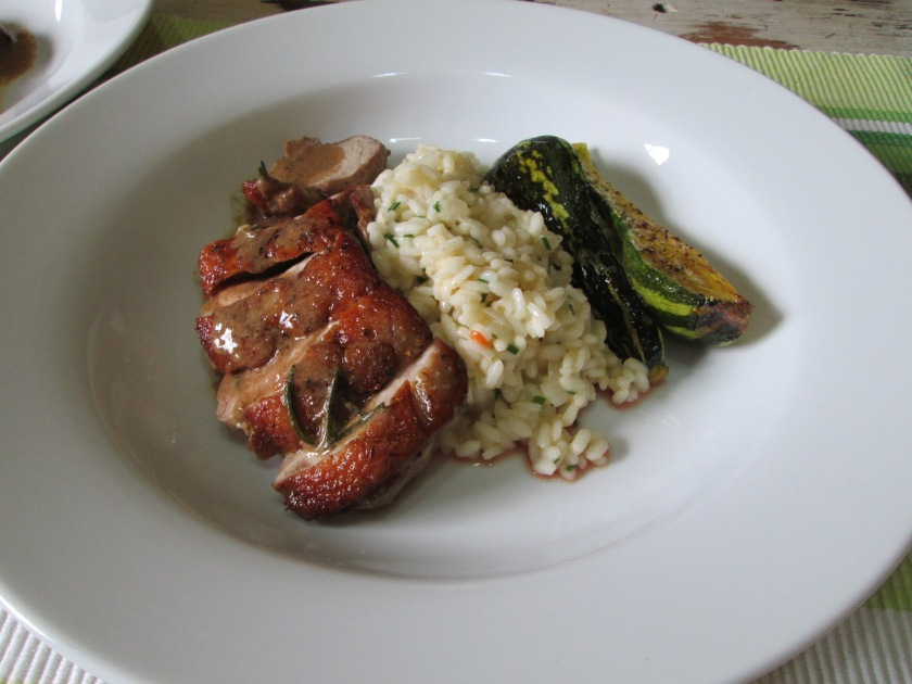 Duck Breast with Rosemary Scented Risotto